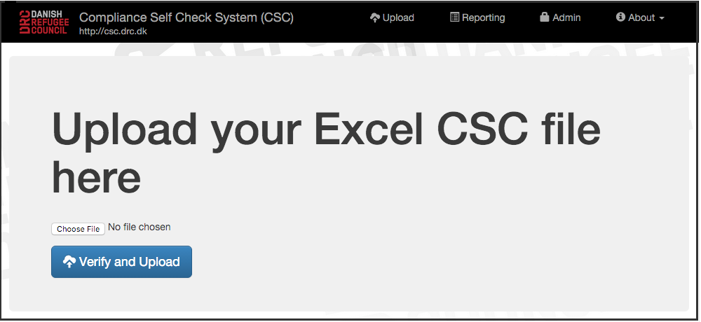 Compliance Self Check (CSC)
